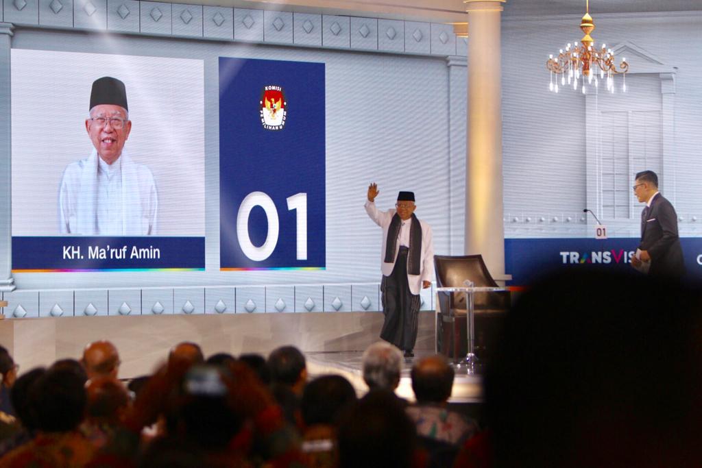 Jokowi Puas Saksikan Debat Kiai Ma'ruf Amin