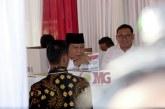 FOTO Prabowo Mencoblos di TPS 041 Bojong Koneng