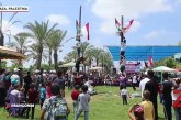 Rayakan HUT RI ke-74, Warga Palestina Ikut Lomba Panjat Pinang