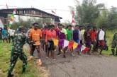 Satgas Pamtas Yonif 411/Pdw Kostrad Gelar Lomba Panahan Tradisional di Papua