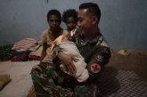 Prajurit TNI Bantu Persalinan Bayi Lahir di Tapal Batas