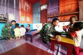 TNI di Perbatasan Papua Sulap Rumah Pintar Jadi PAUD