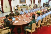 Jokowi Bahas Komitmen Kebangsaan Bersama Pimpinan TNI AL dan TNI AU