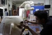 FOTO Pembuatan Ogoh-ogoh