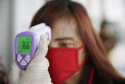 FOTO Pemeriksaan Suhu Badan Pengunjung di Pameran