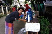 FOTO Cegah Covid-19, Wajib Cuci Tangan Masuk Wilayah RT 04/RW 14 BSP Bekasi