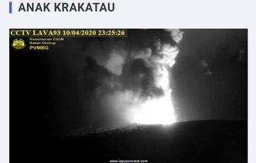 Gunung Anak Krakatau Kembali Meletus!