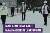 Jokowi Anjurkan Masyarakat Bermasker Saat Beraktivitas di Luar Rumah