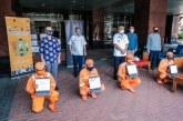 Kemenparekraf Bagikan 10.000 Masker Kain ke PPSU DKI Jakarta