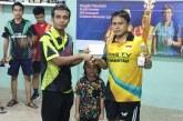 Hebat! Tangan Cedera, Eka Kurniawan Juara Turnamen Tenis Meja Halalbihalal Ping TV Robek