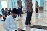 Jokowi Bersyukur Bisa  Laksanakan Salat Jumat di Masjid Baiturrahim
