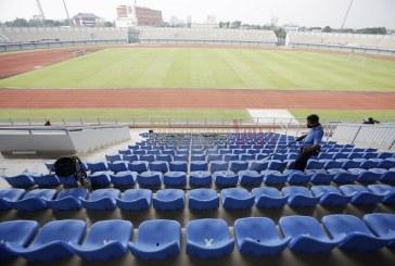 FOTO Perawatan Stadion Sport Center Kelapa Dua di Tengah Pandemi Covid-19