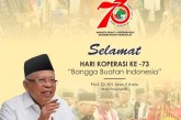 73 Tahun Koperasi Hadir Kawal Perekonomian Bangsa