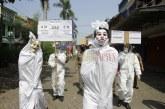 FOTO Pocong Sosialisasikan Protokol Kesehatan di Kota Tangerang