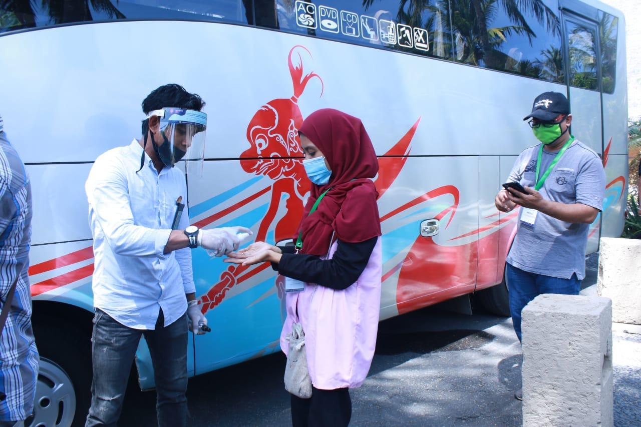 Pastikan Wisatawan Nyaman Jalankan MICE Kemenparekraf Gelar Simulasi Protokol Kesehatan di Wisata Lombok