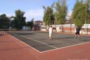 FOTO Bermain Tenis di BSP untuk Cegah Penularan Covid-19