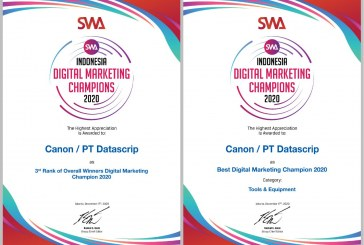 Canon Dapat Predikat Best Digital Marketing Champions 2020