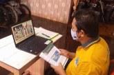 Terdampak Banjir, Guru MAN IC Tanah Laut Tetap Semangat Mengajar Daring