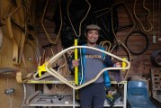 FOTO Sepeda Kayu Karya Anak Bangsa di Tapos
