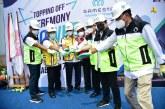 Kurangi Kawasan Kumuh di Tangsel, Kementerian PUPR dan Kementerian BUMN Topping off Rusun Rawa Buntu