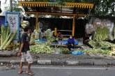 FOTO Pedagang Kulit Ketupat di Pasar Pisang