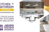Kitchen + Bathroom Indonesia akan Dipentaskan di JIExpo pada 23 – 26 Maret 2022