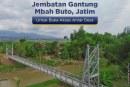 Jembatan Gantung Mbah Buto Hubungkan Antar Desa