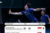 Tumbangkan Tuan Rumah Denmark, Indonesia Melesat ke Final Piala Thomas