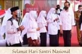 Jokowi: Para Santri Indonesia Siap Siaga Membela Tanah Air