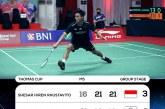 Kalahkan Taipei 3-2, Indonesia Juara Grup A Piala Thomas 2020